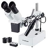 AmScope Se402X YZ 5x -10x -20X -30x -40X stéréo microscope binoculaire Boom + Light