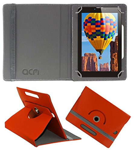 Acm Rotating 360° Leather Flip Case for Tescom Bolt 3g Cover Stand Orange  available at amazon for Rs.149