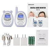 DBPOWER digitales Babyphone mit Temperatursensor, Zwei-Weg und Gegensprechfunktion, 300m Reichweite um immer im Kontakt mit Babys zu bleiben - 7