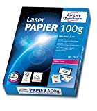 Avery Zweckform 2562 Laser Druckerpapier (DIN A4, 100 g/m², blickdicht, seidenmatt, 500 Blatt) hochweiß