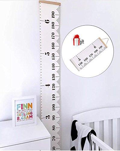 Bingolar Kinder Leinwand Höhe Messlatte Art zum Aufhängen Herrscher für Kinder Schlafzimmer Kinderzimmer Wandtattoo Decor Abnehmbare Höhe und Wachstum Diagramm 7.9 x 79in (Kind Wachstum Diagramm Hängen)
