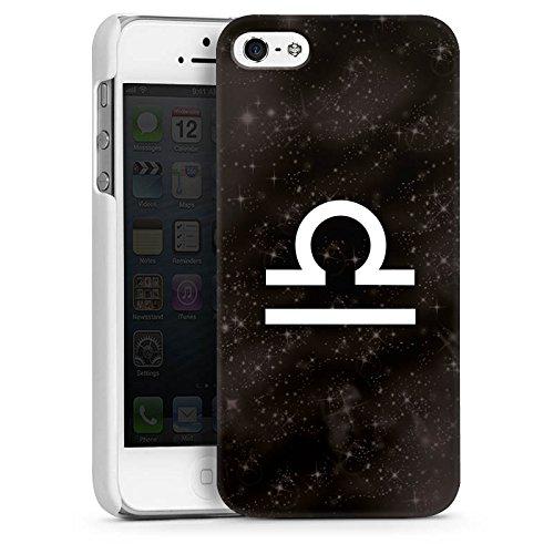 Apple iPhone 4 Housse Étui Silicone Coque Protection Signes du zodiaque Étoiles Balance CasDur blanc