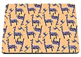 51%2Bw FFFleL. SL160  BEST BUY #1Hippowarehouse Sketched Giraffe Pattern printed mouse mat pad accessory black rubber base 240mm x 190mm x 60mm (Purple Giraffe) price Reviews uk