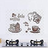 Adesivi Per Cucina Resistenti All'Olio Adesivi Per Piastrelle Fogli Di Alluminio Ad Alta Temperatura Autoadesivi Adesivi Da Parete Removibili Stickers Decorazione 60x90cm