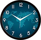 #8: IT2M 11.75 Inches Designer Round Wall Clock With Glass For Home / Kitchen / Living Room / Bedroom (9025B)