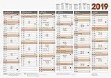 Brunnen 1070130 Tischkalender/Tafelkalender A 3 Modell 701 30, 1 Seite = 6 Monate, kräftiger Karton, Kalendarium  2019