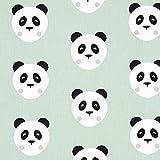 Fabulous Fabrics Cretonne Maotey Panda - mintgrün -