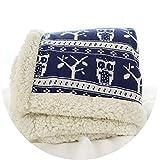 Margot-Charismatic-Blanket Große warme Dicke Eule Weihnachtselch Überwurf, Überwurf Decke, wendbar, Fuzzy Plaid auf dem Sofa/Bett Couch Überwurf, Tagesdecke, wie Foto, 150 x 200 cm
