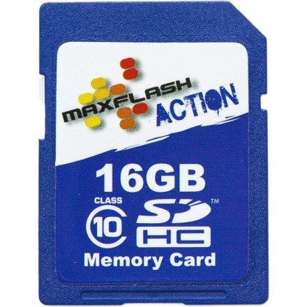 Maxflash 16GB Action SDHC Karte Class 10 Blau Einfarbig One Size