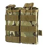 OneTigris Porte Chargeurs Double Tactique Molle en Nylon 1000D pour AR M4 M16 HK416 Airsoft Paintball (Camo)