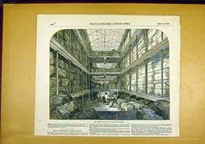 Entrepôt de Docks de Londres de Laine-Plancher 1850 Victorien