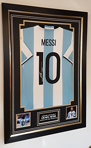 WWW.SIGNEDMEMORABILIASHOP.CO.UK Autogramm-Trikot Lionel Messi