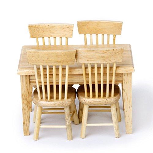 Exquisit entworfene Holz Esstisch Stuhl Modell Set 1: 12Puppenhaus - Stuhl-modell