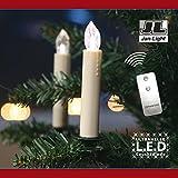LED Christbaumkerzen 10er-Set weiß kabellos Beleuchtung Leuchte Dekoration NEU