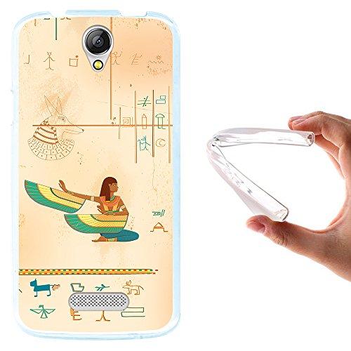 WoowCase Doogee X6 - X6 Pro Hülle, Handyhülle Silikon für [ Doogee X6 - X6 Pro ] Ägiptische Kunst Handytasche Handy Cover Case Schutzhülle Flexible TPU - Transparent