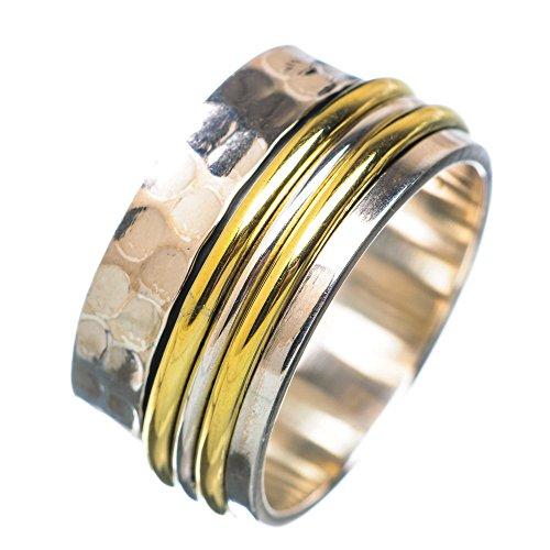 Meditation Spinner, Meditationsspinner 925 Sterling Silber Ring 7.75 7.75