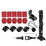 beautygoods Accesorios de la cámara Kit de Montaje para Gopro Hero 6/5/4 Casco de la Motocicleta Accesorios de Soporte de fijación de la Barbilla Kits