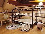 Oliveo Mon lit cabane Barrières 45cm de sécuritér, Lit pour Enfants,lit...