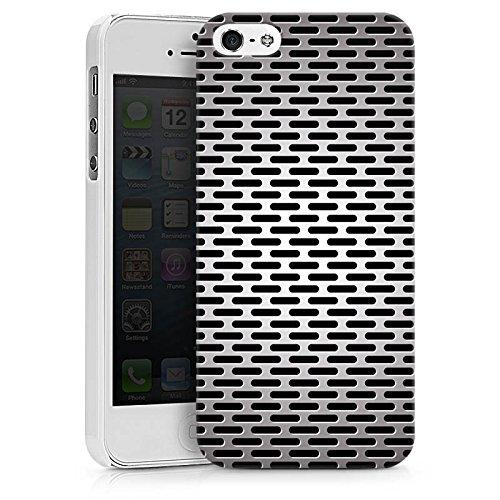 Apple iPhone X Silikon Hülle Case Schutzhülle Blech Metallic Look Hard Case weiß