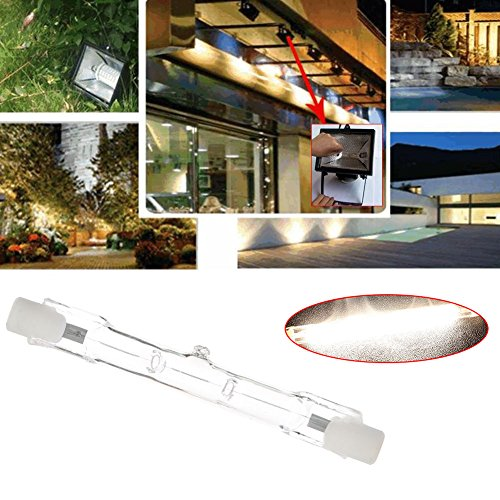 Mingruie Lumières d'inondation à double extrémité des ampoules R7S d'halogène de T3 220-240v 78MM, 48W