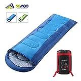 Semoo Schlafsack 200 x 70 cm, 3 Jahreszeiten Deckenschlafsack (von 6 bis 22 °C), leichter wasserdichter Sommerschlafsack, für Outdoor Camping Wandern