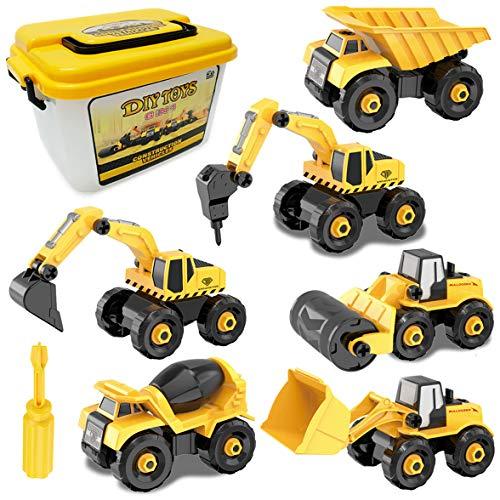 6 en 1 DIY Construction Véhicules Kit pour Enfant Démonter et Assembler Camion Bâtiment Voiture...