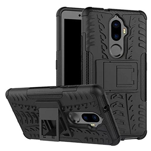 YHUISEN Lenovo K8 Plus case, Hyun Muster Dual Layer Hybrid Armor Ständer 2 in 1 Stoßfestes Gehäuse für Lenovo K8 Plus (5,2 Zoll) ( Color : Purple ) Black