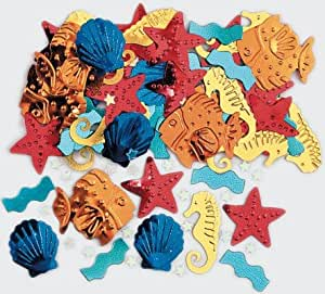 Confettis animaux marins