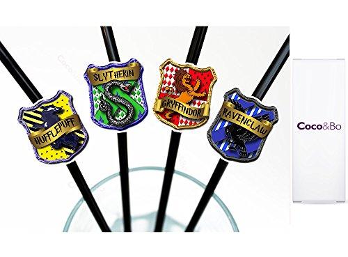 rts Häuser Party Strohhalme Harry Potter Thema Tischdekoration (Swizzle Strohhalme)