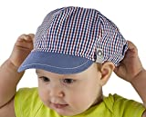 Gorro infantil para niños (100% algodón, primavera, verano, visera, de 9 a18meses, 2 a3años) azul Denim Blue Talla:18-24 months 50cm
