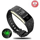 Zeyfit Montre Connectée, Bracelet Connecté Montre GPS Cardio avec Podomètre,Tracker d'Activités et Sommeil, CardioFréquencemètre,Bracelet Intelligent Tactile Etanche pour Android et iOS