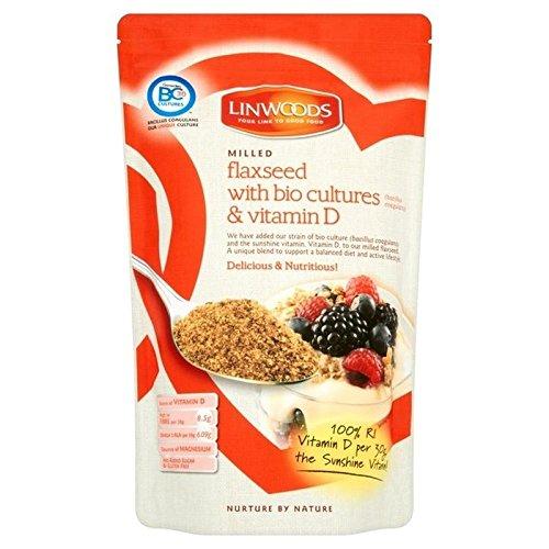 Preisvergleich Produktbild Mit Bio-Kulturen Und Vitamin-D-360G Linwoods Gefräst Leinsamen