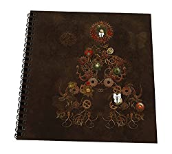3dRose db_201071_3 A Decorated Steampunk Christmas Tree Of Gear Clockwork In Brown Mini Notepad, 4 x 4