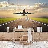Apalis Vliestapete Startendes Flugzeug Fototapete Breit | Vlies Tapete Wandtapete Wandbild Foto 3D Fototapete für Schlafzimmer Wohnzimmer Küche | mehrfarbig, 106756