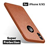 MOBILIFY's Super Protection Soft TPU Texture Back Case Cover for iPhone X/XS