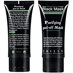 Generic Shills Black mask Tearing style Deep Purifying peel-off face mask Acne remover blackheads-eliminating black masks 50g
