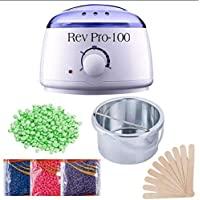 Revolution Hard Wax Warmer, Heater with Hair Removal Wax Beans(100 Grams) and Wooden Chips for Hard, Strip and Paraffin…
