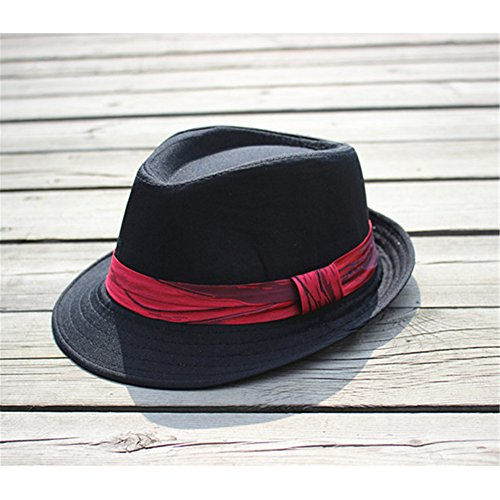Interesting® Elegante Kinder Jungen Mädchen Unisex Fedora Jazz Plaid Ribbon Baby Kinder Cap Sun (Kleinkind Hut Fedora)