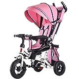 Sport Balance Bike- Trike con empuñadura giratoria Asiento giratorio y reclinable para niños de 2 a 4 años Triciclo para niños Triciclo para bebé plegable Bebé 7 en 1 Tiempo de divertirse