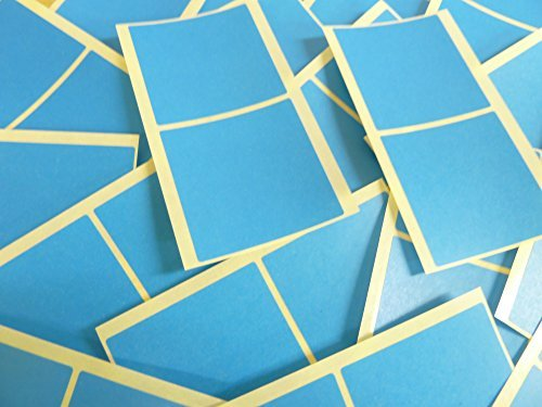 Grande 51mm Cuadrado Azul Medio Código De Color Adhesivos, 50 auta-Adhesivo Cuadrados adhesivo Etiquetas De Colores