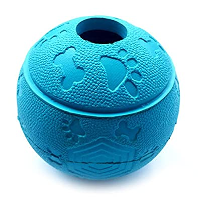 Dog Treat Ball Interactive Dog Toy 7.6-8.1cm Green and Blue