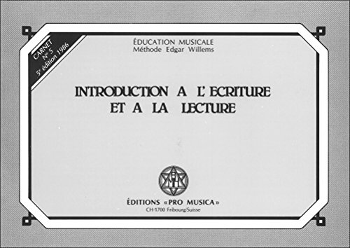 Introduction à l'écriture et à la lecture : Carnet n° 5