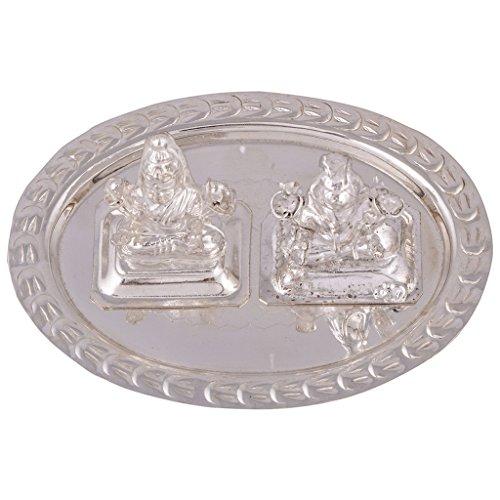 GS Museum GS Museum silver plated mini ganesh laxmi set 3pcs.