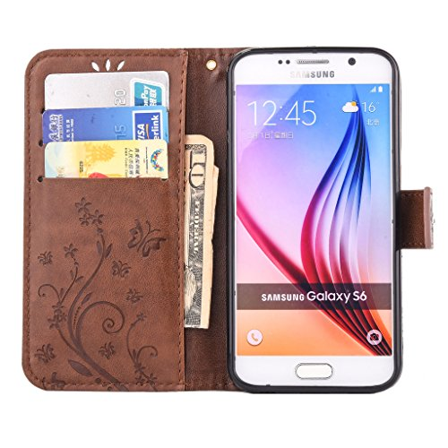 Mo-Beauty, Borsa bowling donna Gray Samsung Galaxy S6 Coffee