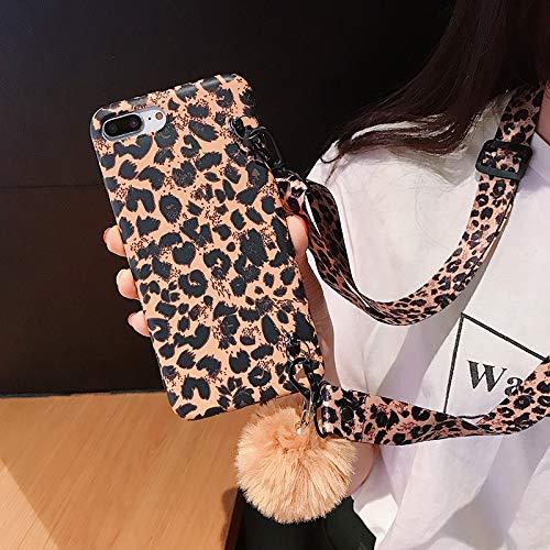 GUYISJK iPhone-Handyhülle Handy Shell Leopard Apple XS Max. Diagonale Lanyard 7 Plus Silikon 8 All Inclusive 6 S Bruchsicher Sets Von 6 Männern Und Frauen Xr Paar Persönlichkeit Kreativ Geprägte