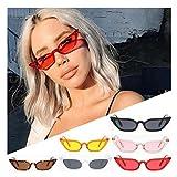JoyJay Women Vintage Retro Cat Eye Sunglasses Retro Small Frame UV400 Eyewear Fashion