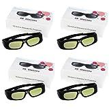 Excelvan® 4X DLP-Link 3D Aktiv Shutter Brillen für Optoma ViewSonic