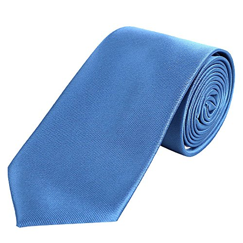 DonDon hombres corbata 7 cm business professional classica hecho a mano azul para la oficina o eventos festivos