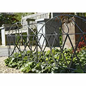 3 Decorating garden lawn Path Border Edging Fencing METAL