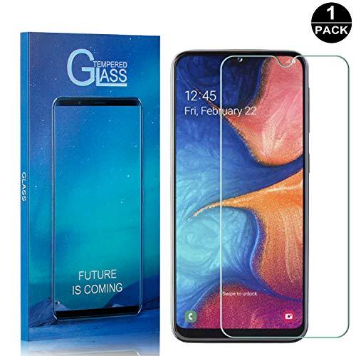 Bear Village® Galaxy A20 Displayschutzfolie, Anti-Fingerabdruck, Keine Luftblasen, Ultra-klar Hart Schutzfilm aus Gehärtetem Glas für Samsung Galaxy A20, 1 Stück